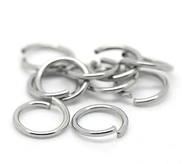 Beads & Jewelry Making Crafts 1000 Anneaux De Jonction 8 Mm Argente Foncé-neuf-