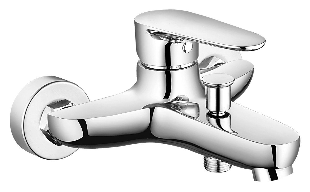 DEANTE BCJ 010 M Jaskier Bath Mixer Without Shower Set, Chrome, 19 x 21 cm Metal