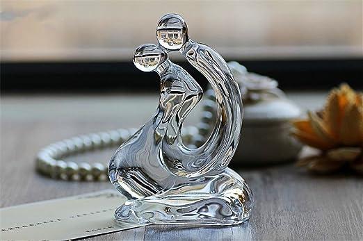 Cristal amante Statuette Craft boda propuesta y regalo de San Valentín Día recuerdo adorno de decoración de mesa: Amazon.es: Juguetes y juegos