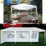 STRONG CAMEL Wedding Party Tent 10×30 White Gazebo Canopy BBQ Easy Set Pavilion Cater Events Review