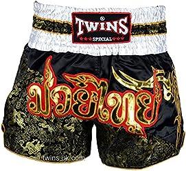 TWS-851 Twins Special Red Tartan Muay Thai Boxing Shorts