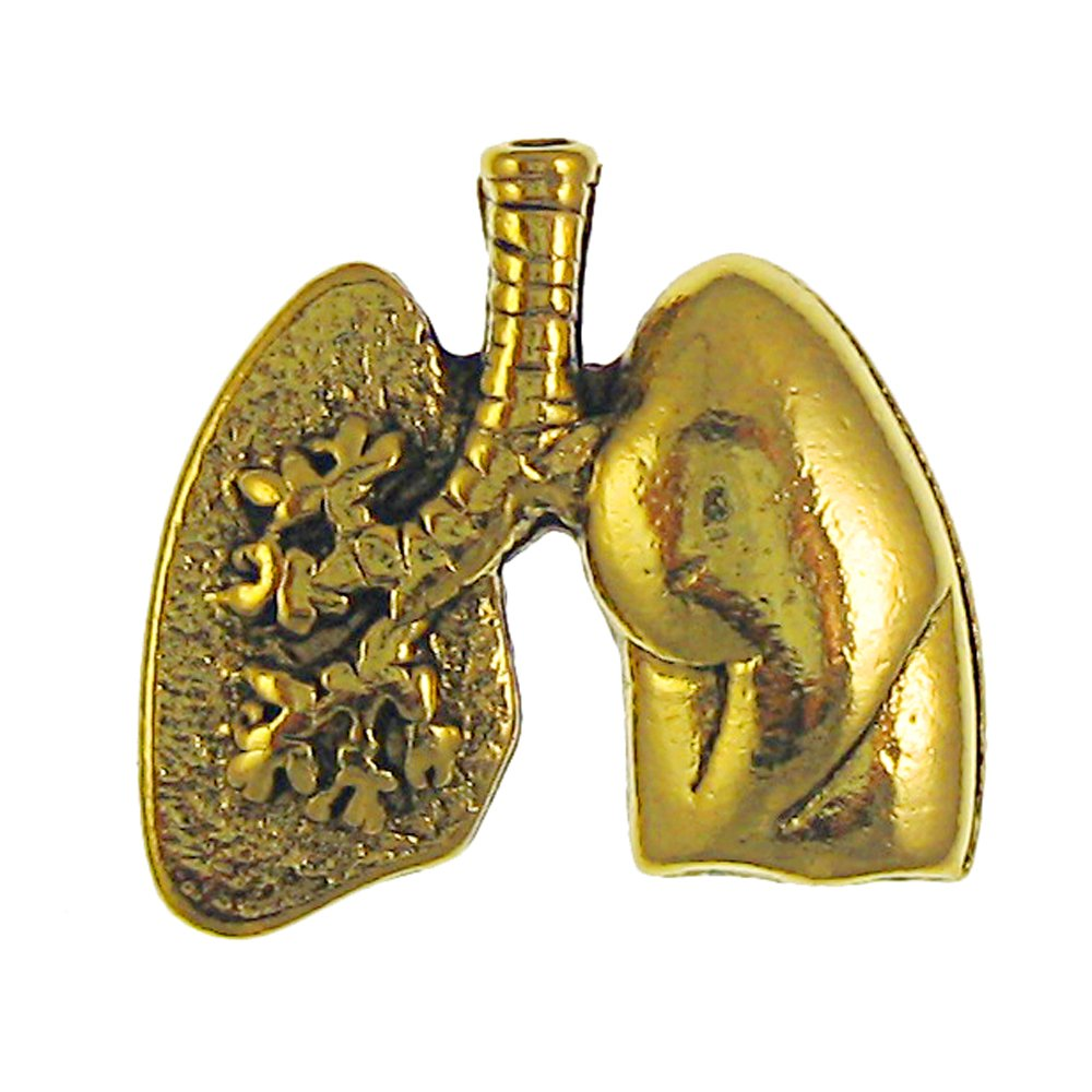 Lungs Gold Lapel Pin - 75 Count