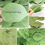100x Student Sticky Notes Leaf Shape Sticker School Supplies Leave Message Paper