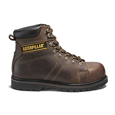 Caterpillar Men's Footwear Silverton Steel Toe Work Boots - Dark Brown, Size 11.5W: Shoes