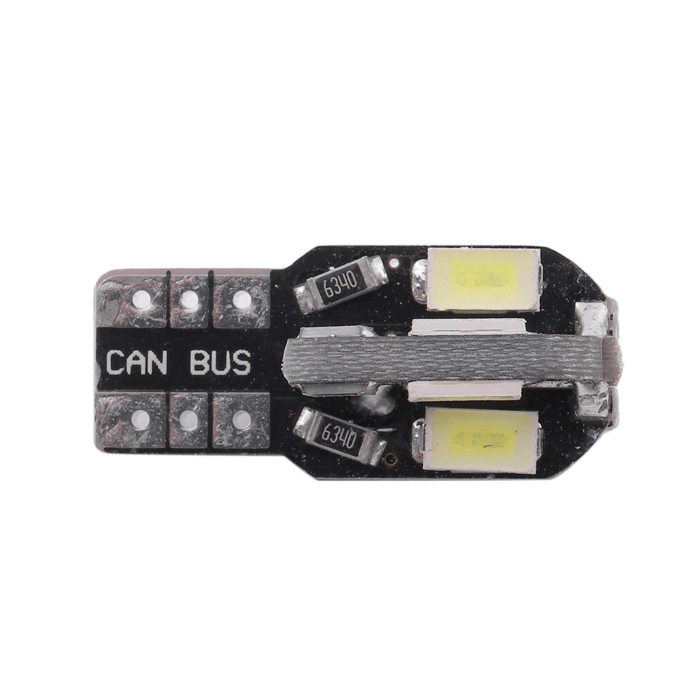 WOVELOT T10 Ampoules LED de Voiture sans Erreur Canbus 8 SMD Xenon W5W 501 Ampoule Lat/érale 4X Blanc