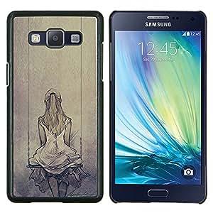 Planetar® ( Melancolía Triste Dibujo oscilación ) Samsung Galaxy A5 A5000 Fundas Cover Cubre Hard Case Cover