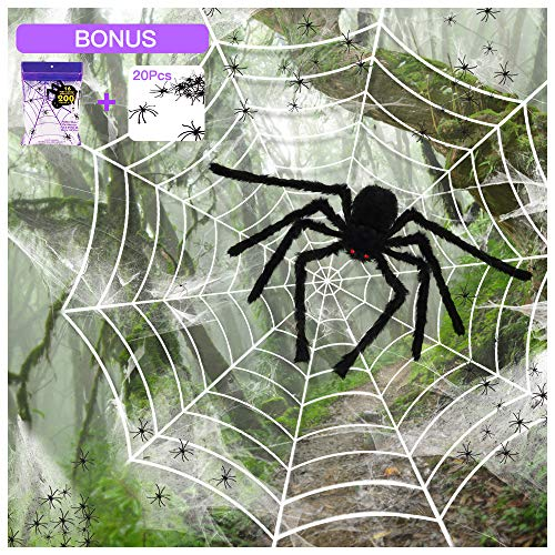 SILVIA 4 Packs Halloween Spider Decorations: 35.5