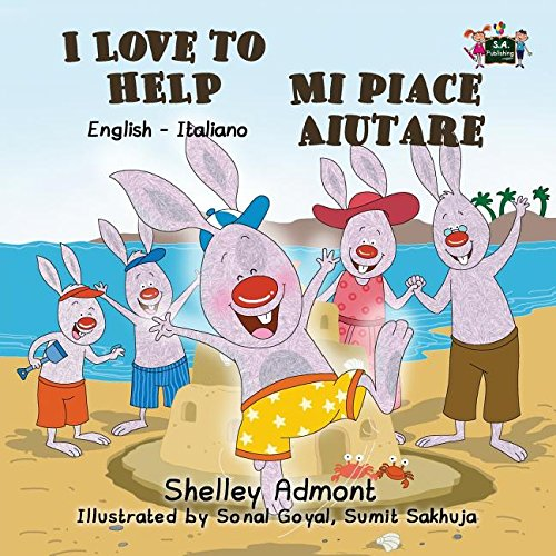 I Love to Help Mi piace aiutare: English Italian Bilingual Edition (English Italian Bilingual Collection) (Italian Edition)