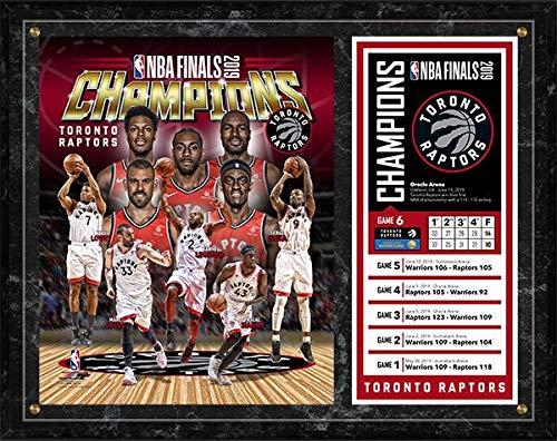 (Toronto Raptors 2019 NBA Finals Champions Photo Plaque (Size: 12