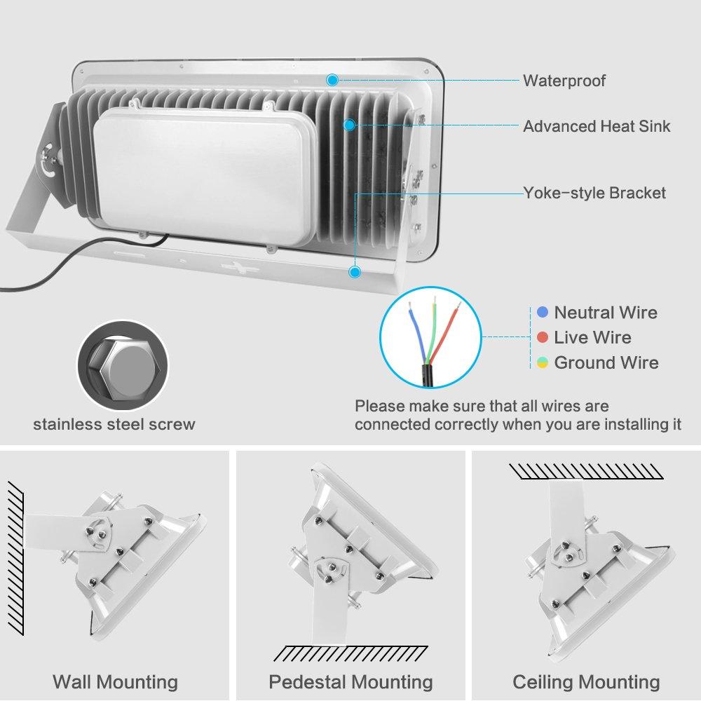 Amazoncom Morsen Outdoor Flood Light W Daylight White K - K4221c wiring diagram