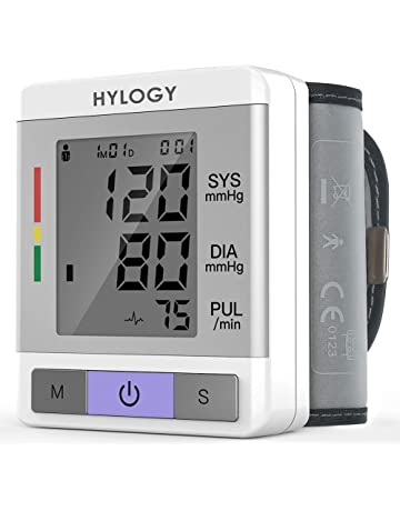 Tensiómetro de Muñeca, HYLOGY Tensiómetro Digital de Muñeca Totalmente Automático Presión Arterial y Detección de