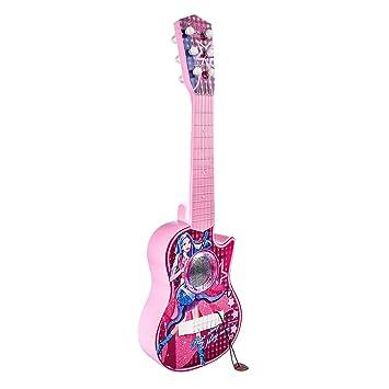 YAKOK 6 Cuerdas Guitarra Electrica Niños Guitarra Bebe Juguete para Niños y Niñas 3-5 años (Patrón Aleatorio) (Rosa): Amazon.es: Juguetes y juegos