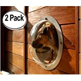 2-Pack Pet Love Fence Bubble Window for Pets and Dogs Peek Clear View; Solution for less dog barks Happy Neighbors