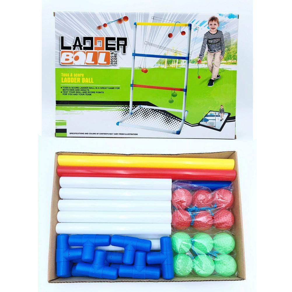 das Wurfspiel Leitergolf Ball f/ür Camping Spiel das Geschicklichkeitsspiel aus Holz Rubyu Leitergolf Bausatz mit 6 Doppelkugeln