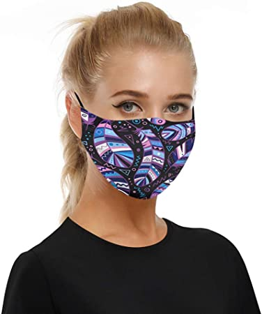 Europe Face Wear Wankting Mouth Cloth Pocket Face Guard Unisex Floral Pattern Print for Outdoors Sports Festivals Adjustable Ear Loops Mouth Product