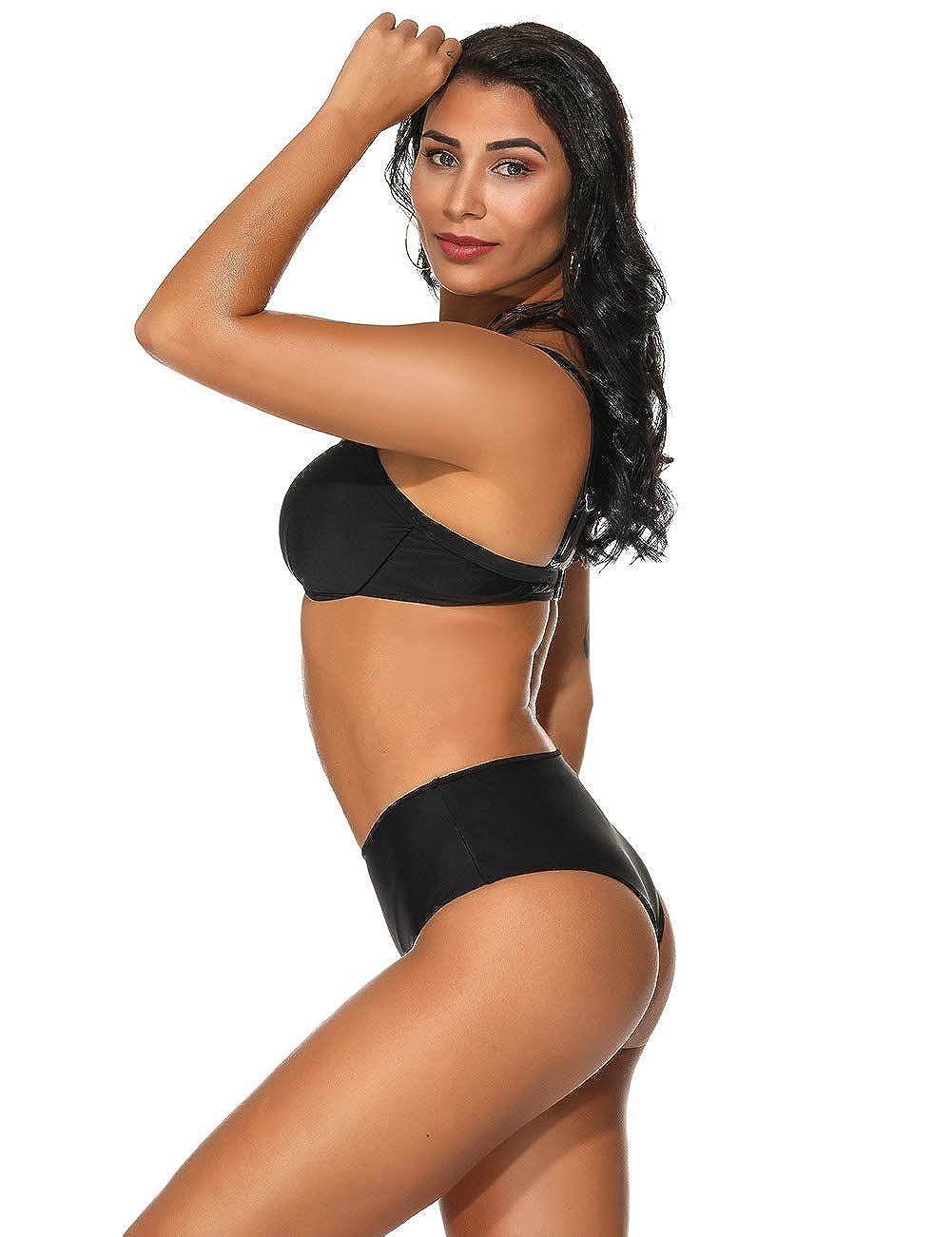 FeelinGirl Damen Sommer Bikini Set Bademode Push Up Bikinis Badeanzug Zweiteiler Strand Swimwear Swimsuits Beachwear