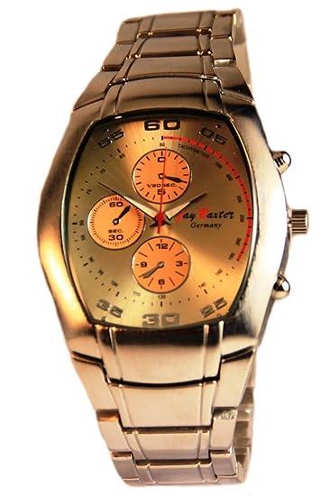Jay Baxter XXL Reloj Reloj de hombre reloj de pulsera con correa de cadena, acero