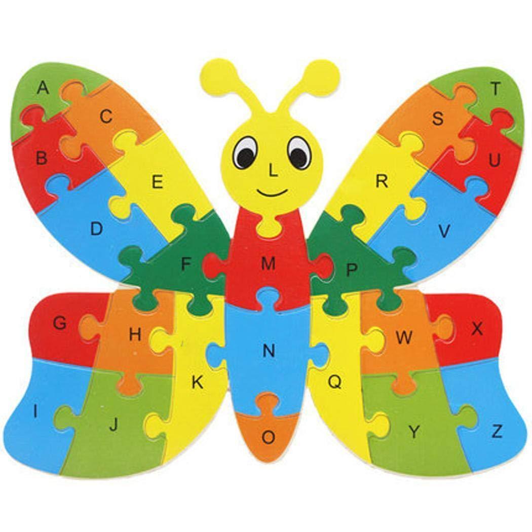 素敵な Opino 子供用 おもちゃ 4501 早期教育 木製 動物 26のカラフルな木製アルファベット文字 アニメ Butterfly 動物 ジグソーパズル おもちゃ カートゥーンブロック 早期教育玩具 幼児 子供 幼稚園児 10種類 Butterfly 4501 Butterfly B07HBQB13H, フェイバリットストーン:9b3b9661 --- a0267596.xsph.ru