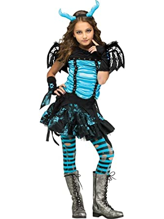 Goth Dragon Fairy Girls Costume (Medium (8-10)  sc 1 st  Amazon.com & Amazon.com: Goth Dragon Fairy Girls Costume (Medium (8-10): Toys u0026 Games
