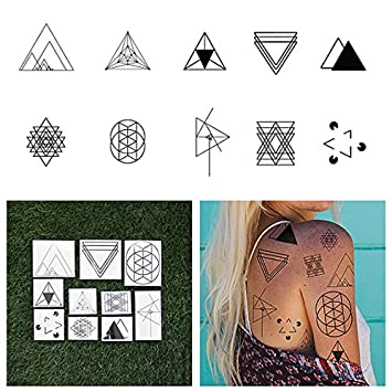 b673b4aa4a962 Tattify Triangle Shape Temporary Tattoos - I'd Like to See You Tri (Set