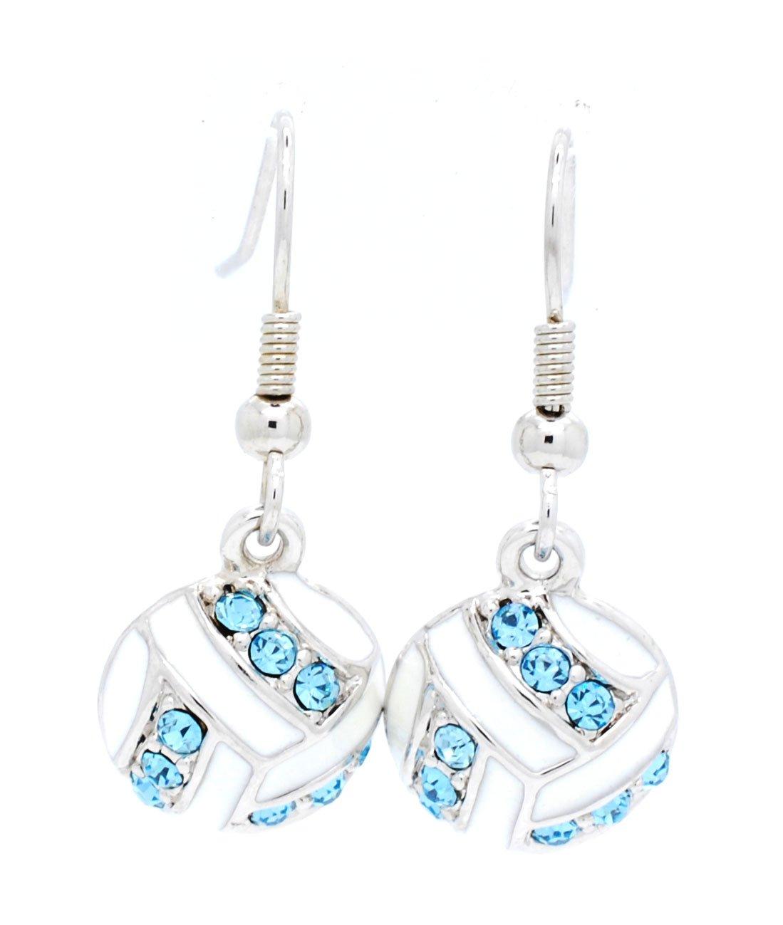 Violet Victoria /& Fan Star Volleyball Earrings Dangle Volleyball Earrings
