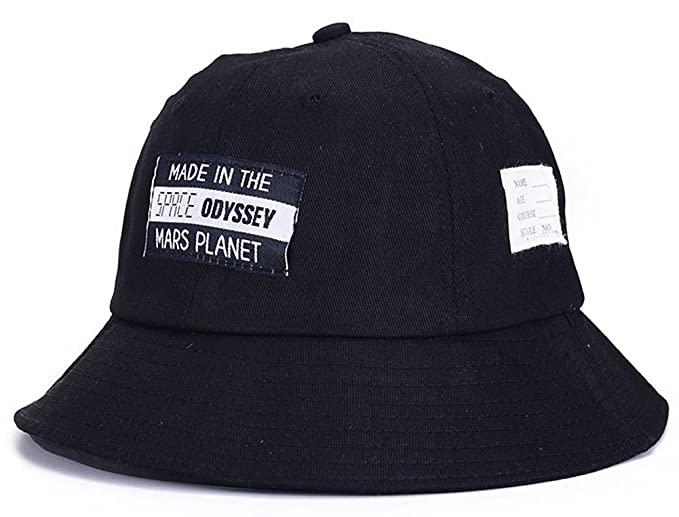 4e578d6f29b ChezAbbey Unisex Cool Breathable Funky Simple Alphabet Wide Brim Fisherman Bucket  Hat Outdoor Cap Black