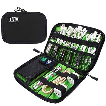 Power Bank/ /Schwarz yucool 2/Pack portable Reisen Tasche f/ür Festplatte Ladeger/ät Blau Kabel Organizer Elektronik Zubeh/ör Tasche USB Ladekabel
