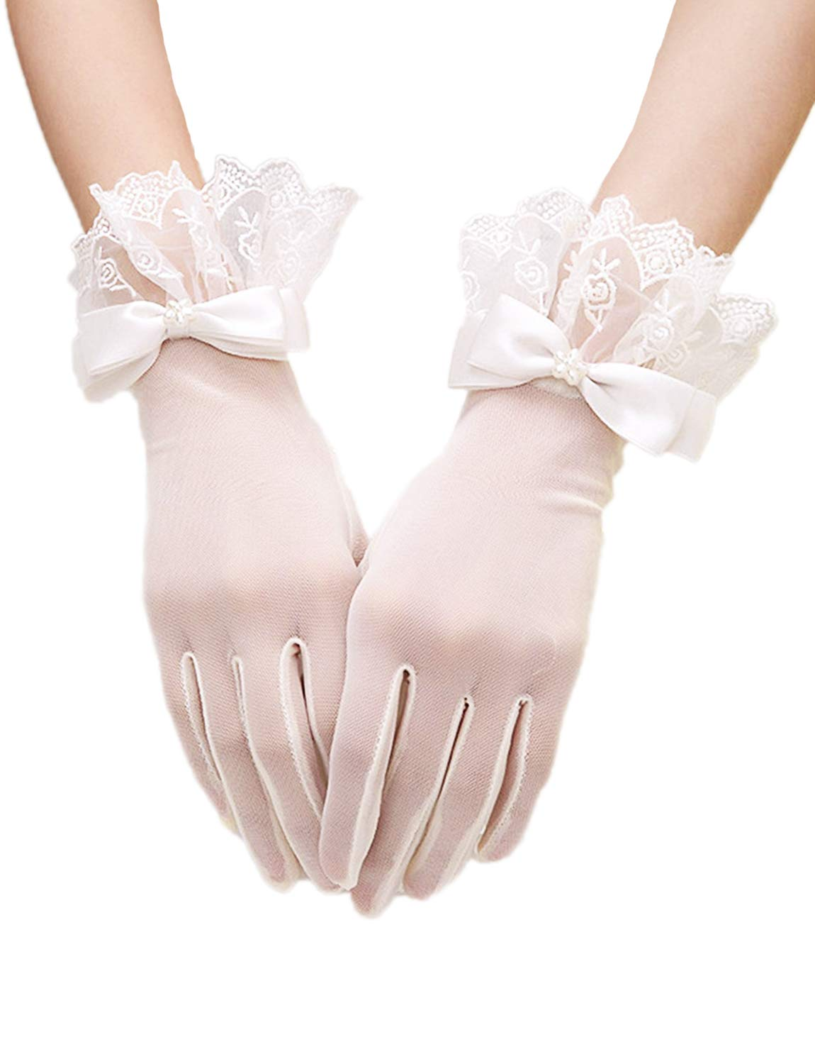 Gorse Lace Gloves Fingerless Gloves UV Protection Prom Party Driving Wedding Mother's Day SH