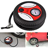 UPPITY Portable Electric Mini DC 12V Air Compressor Pump for Car and Bike Tyre Tire Inflator| Multicolour
