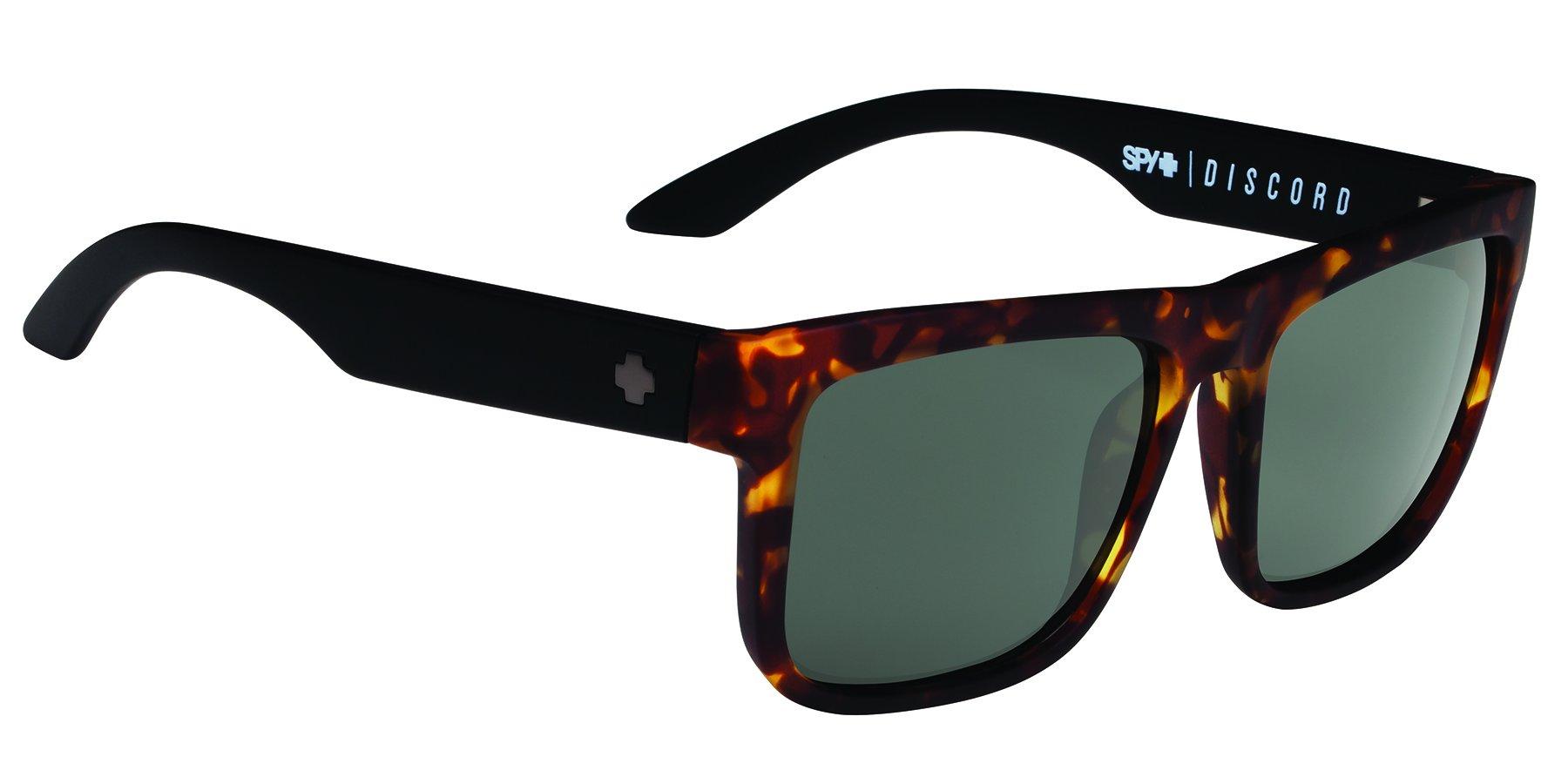 Spy Optic Discord Flat Sunglasses, Vintage Tort/Happy Gray/Green, 57 mm