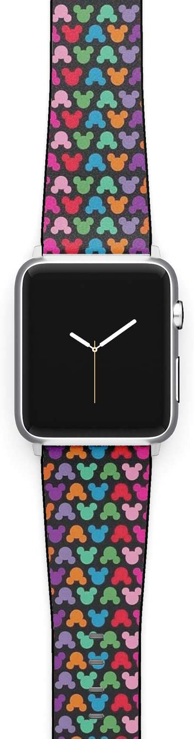 Watch Band Compatible with Apple iWatch All Series 38mm 40mm 42mm 44mm Cartoon Design Strap (mickey5) (38/40mm)