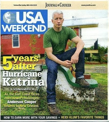 USA Weekend August 27 2010 Anderson Cooper on Cover, 5 Years After Hurricane Katrina, Heidi Klum's Favorite Things pdf epub