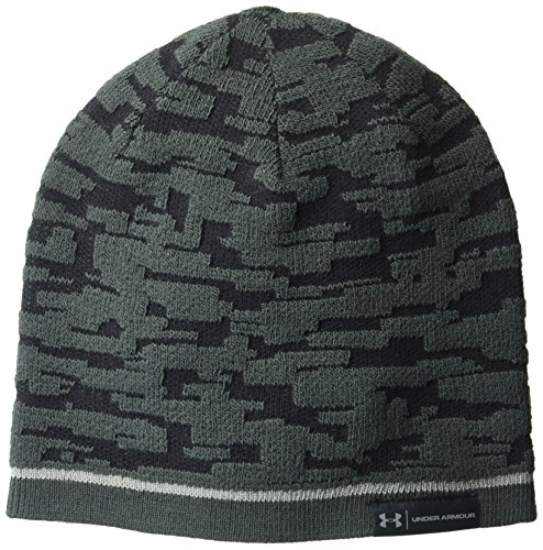 Under Armour Men's Reversible Graphic Beanie, Black (001)/Steel, One Size