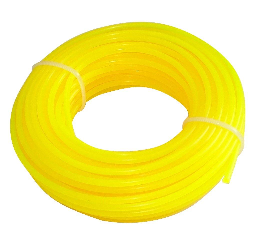 Aerzetix - Corda profilo tondo filo giallo di nylon 2.4mm 15m per tagliaerba taglierina trimmer decespugliatore C18549-AZ36