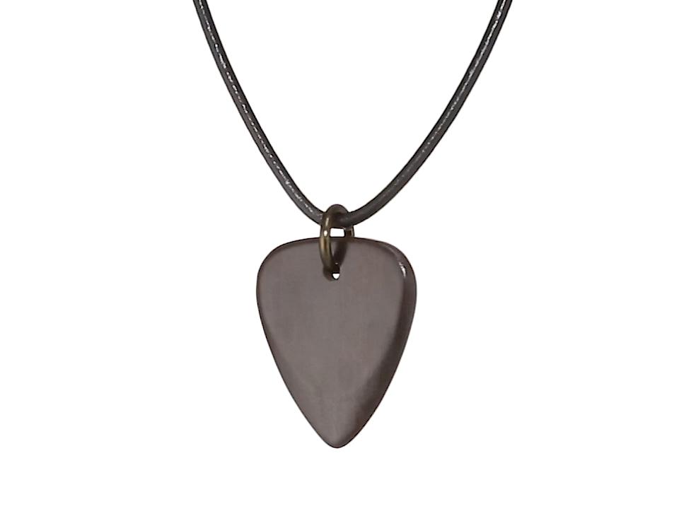 Timber Tones - Collar de piel con púa (61 cm, madera de ébano ...