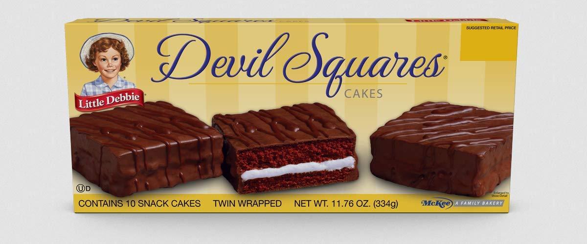 Little Debbie Snack Cakes 2 Regular Size Boxes (Devil Squares)