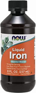 NOW Supplements, Iron Liquid 18 mg, Non-Constipating*, Essential Mineral, 8-Ounce