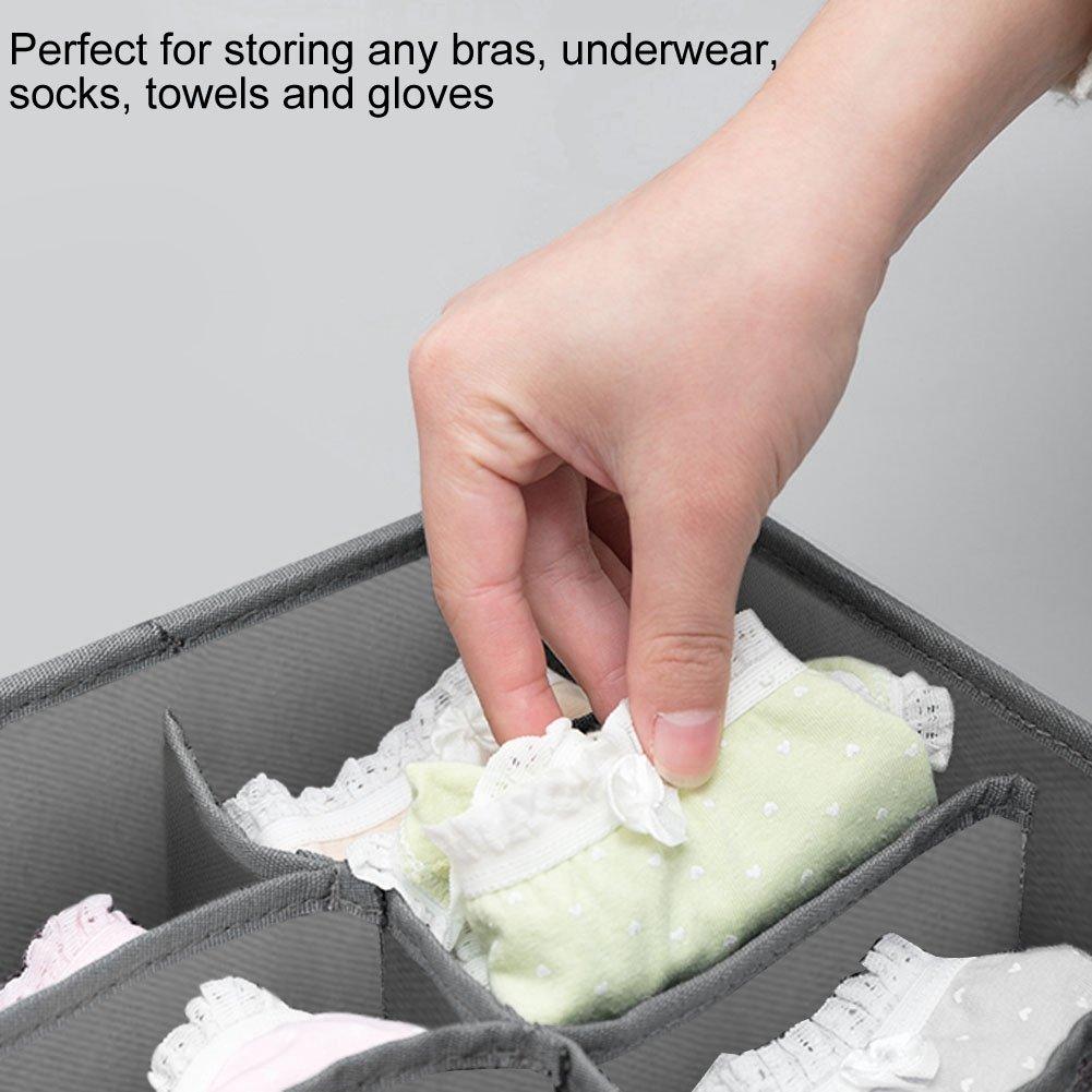 Ropa Interior 3 Piezas Sujetador de Ropa Interior Guantes Calcetines de Almacenamiento Rejilla para Pantalones Asixx Organizador de Cajones