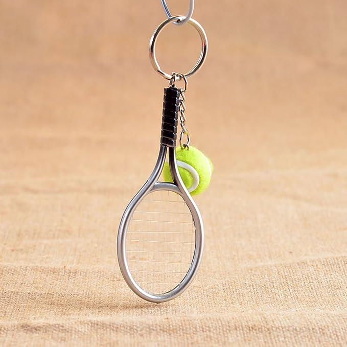 sharprepublic Mini Pelota De Tenis Raqueta Colgante Llavero De ...