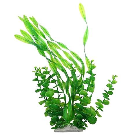 Planta decorativa de acuario - SODIAL(R)Decoracion de planta de agua de pecera