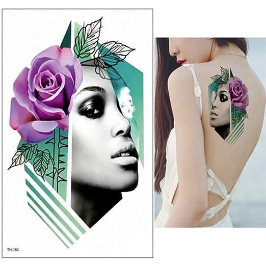 Handaxian 3pcs-Hembra Tatuaje Temporal Tatuaje Brazo Pierna ...