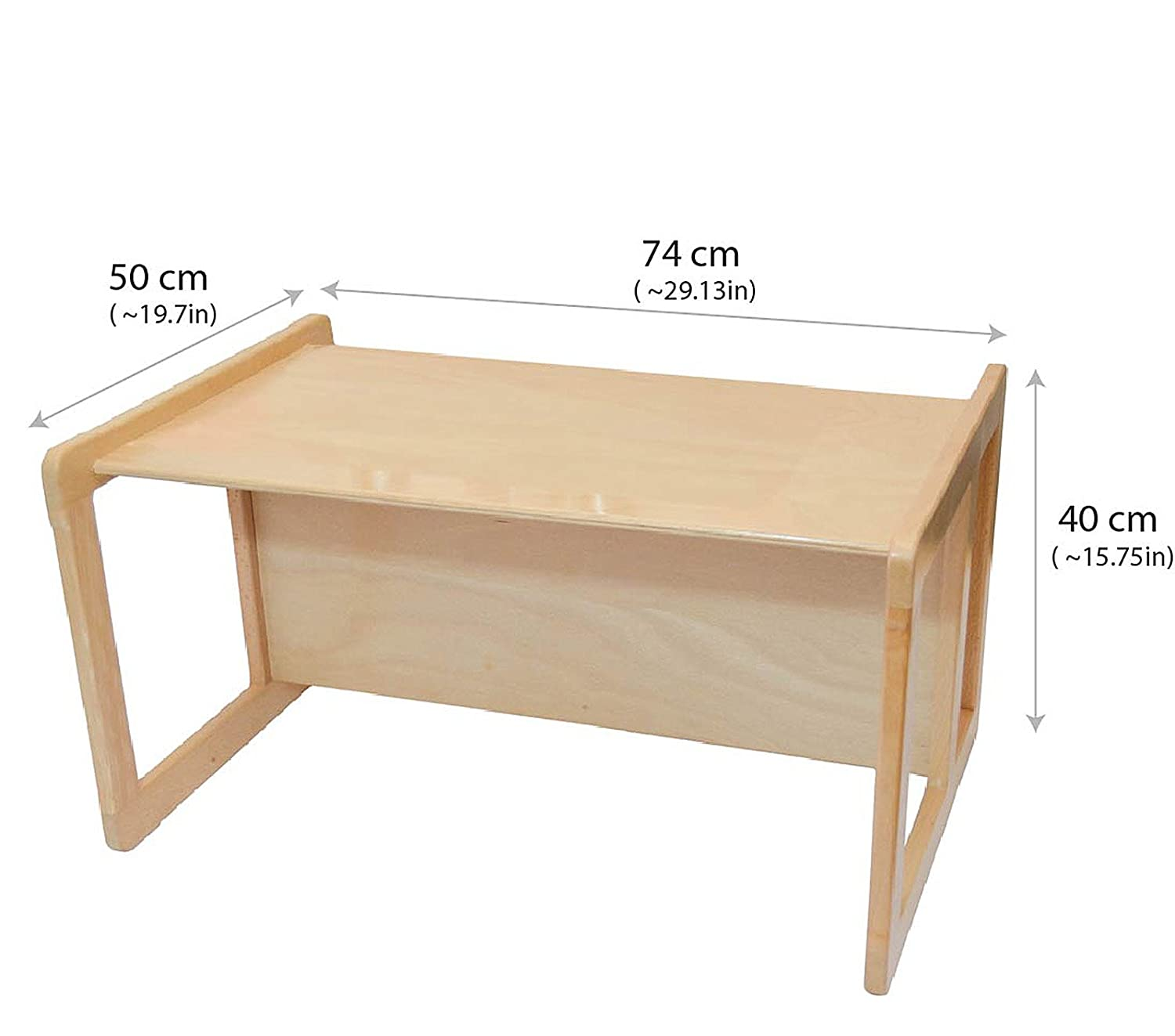 multifunctional furniture. Amazon.com: 3 In 1 Childrens Multifunctional Furniture Set Of 3, Two Small Chairs Or Tables And One Large Bench Table Beech Wood, Natural: Kitchen \u0026 O