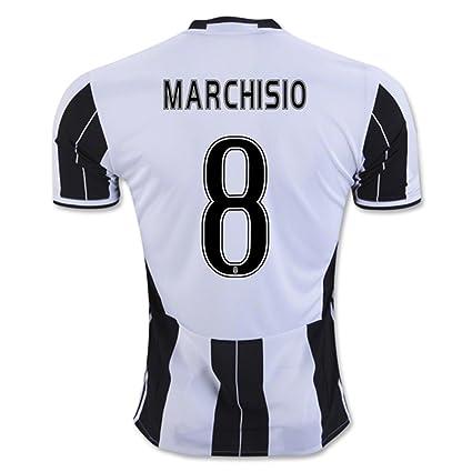 2016 2017 Juventus FC Camiseta de 8 Claudio Marchisio Home Fútbol Fútbol  Jersey Kit en Zebra 29c43b324514e