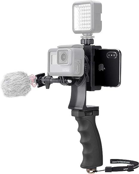 2 en 1 Cámara + Kit de video Teléfono Agarre manual Estabilizador ...
