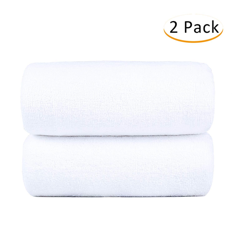 Monarca Cotton Bath Towel 2 Pack, Oversized 30'' x 60'' Towel Set, 600GSM, Luxury Hotel & SPA Towel, White