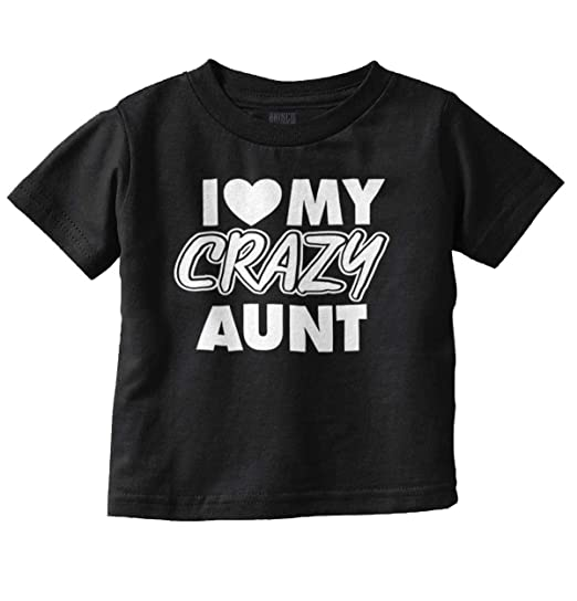 dd58714d Amazon.com: Love Crazy Aunt Adorable Family Newborn Infant Toddler T ...
