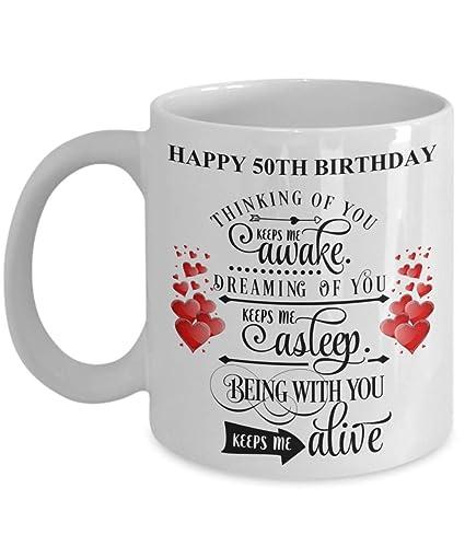 50th Birthday Gifts For Husband Wife Fiance Boyfriend Girlfriend Lover Partner Mom Daughter Son Men Women