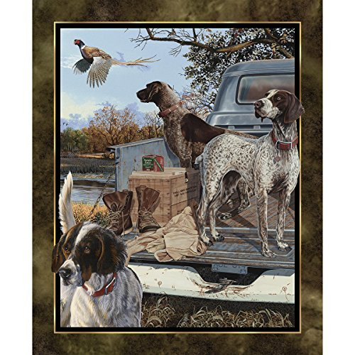 Wild Wings Dog Days Fabric Sold by The Panel