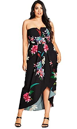f0aaab987fa Succulent Plus Size Wrap Maxi Dress in Black - Size 14   XS at ...