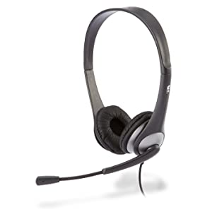 Cyber Acoustics Stereo Headset, Headphone with Microphone, Great for K12 School Classroom and Education (AC-204)